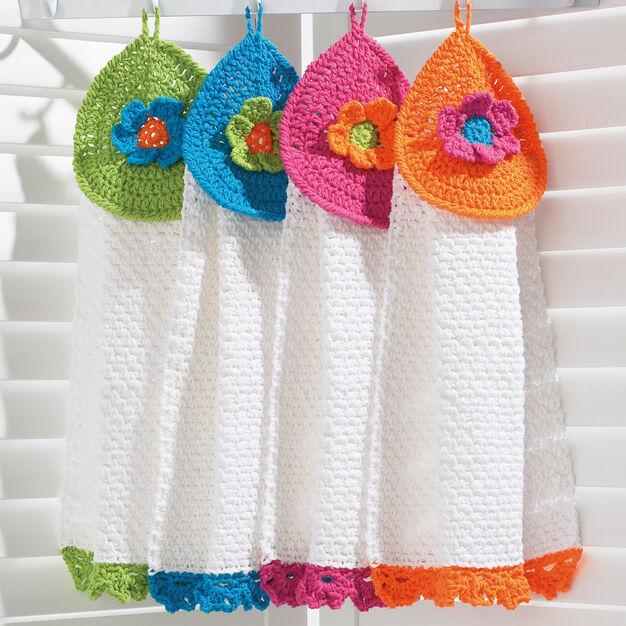 Pretty Flowers Tea Towels Free Crochet Pattern
