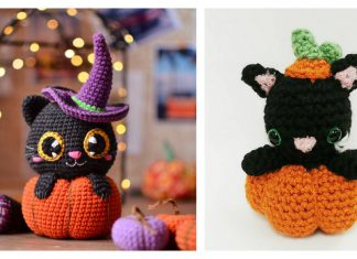 Pumpkin Cat Amigurumi Crochet Patterns