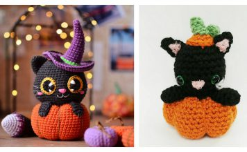 Pumpkin Cat Amigurumi Crochet Patterns