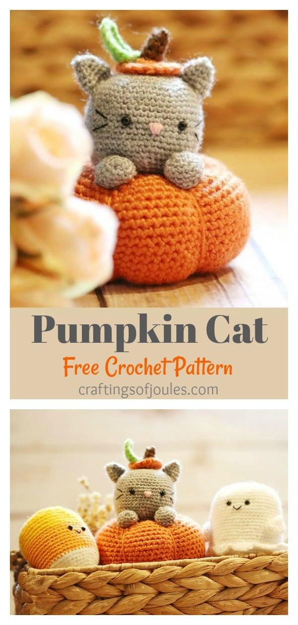 Pumpkin Cat Amigurumi Free Crochet Pattern