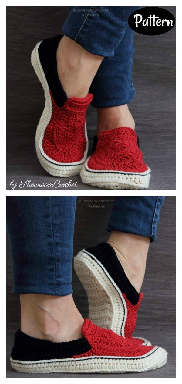 Sneaker Slippers Crochet Pattern