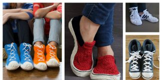 Sneaker Slippers Crochet Patterns
