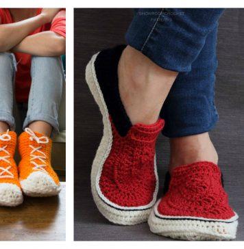 Sneaker Slippers Crochet Patterns