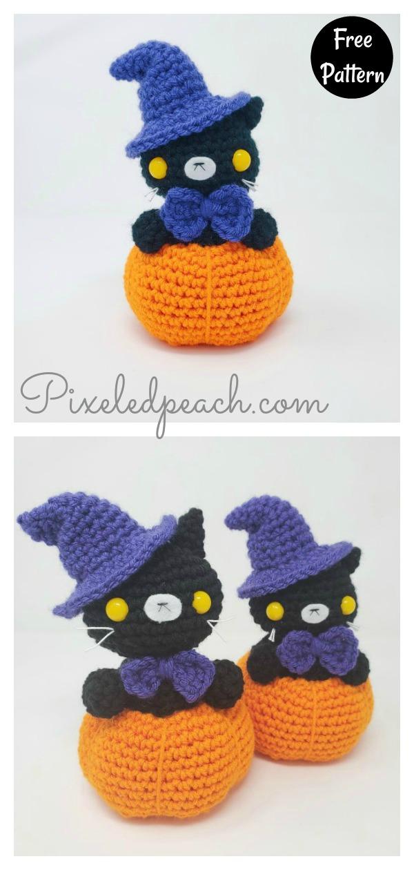 Spooky Pumpkin Cat Amigurumi Free Crochet Pattern