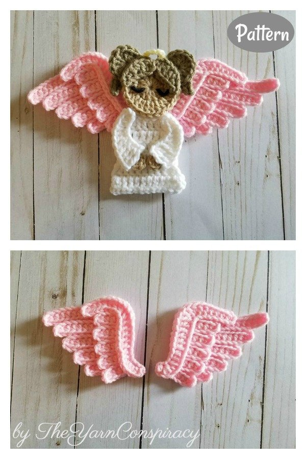 Sweet Angel Applique Crochet Pattern