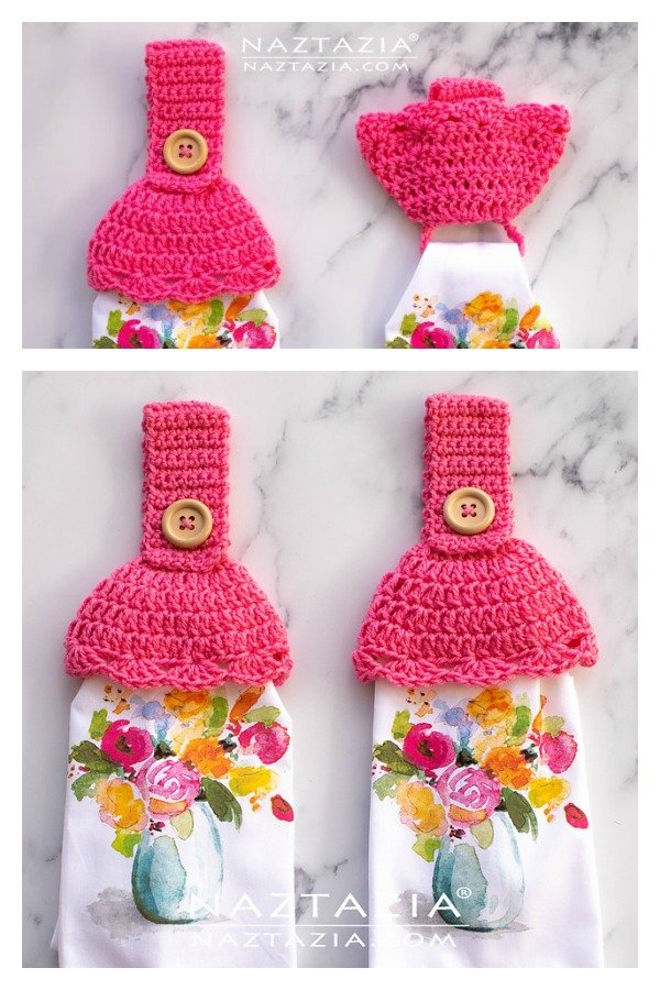 Towel Toppers with Hidden Ring Free Crochet Pattern