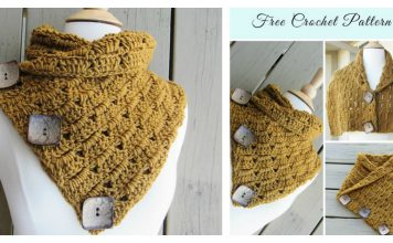 Versatile Button Cowl Free Crochet Pattern