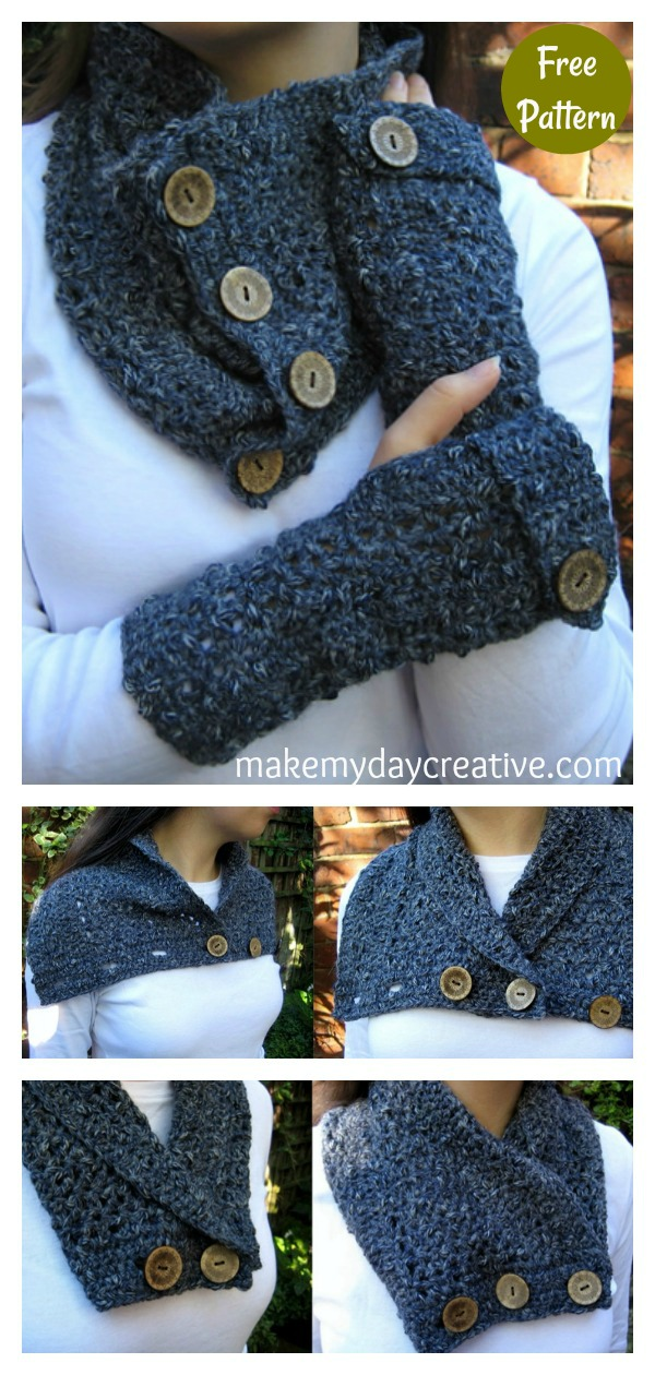 Versatile Easy Textured Cowl Free Crochet Pattern
