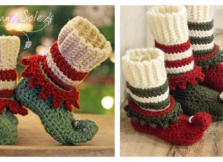 Adorable Christmas Elf Shoes Crochet Pattern