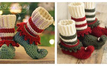 Adorable Christmas Elf Shoes Crochet Pattern