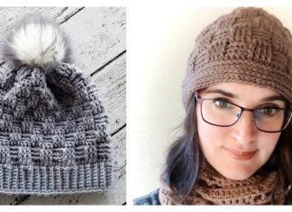 Basketweave Beanie Hat Free Crochet Pattern