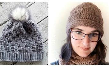 Basketweave Beanie Hat Free Crochet Pattern