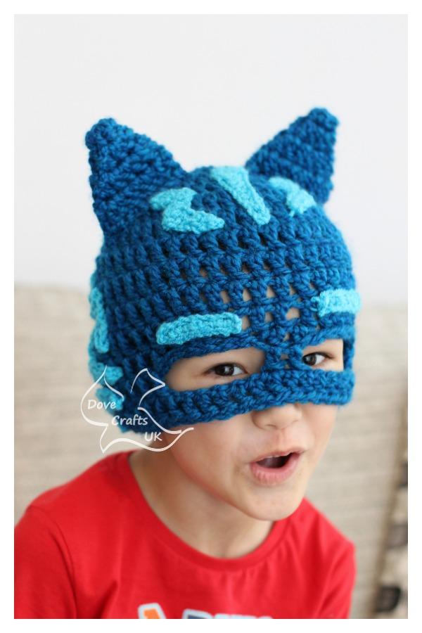 Catboy Mask Hat Ücretsiz Tığ Desen