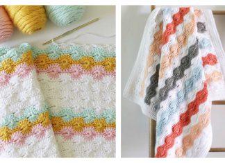 Catherine's Wheel Stitch Blanket Free Crochet Pattern