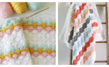 Catherine's Wheel Stitch Blanket Free Crochet Pattern
