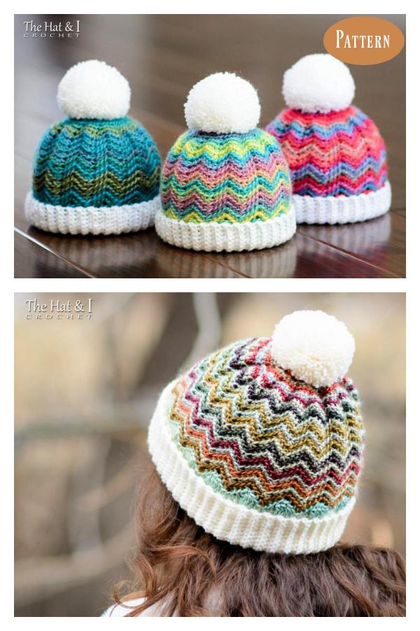 Chevron Hat Crochet Pattern