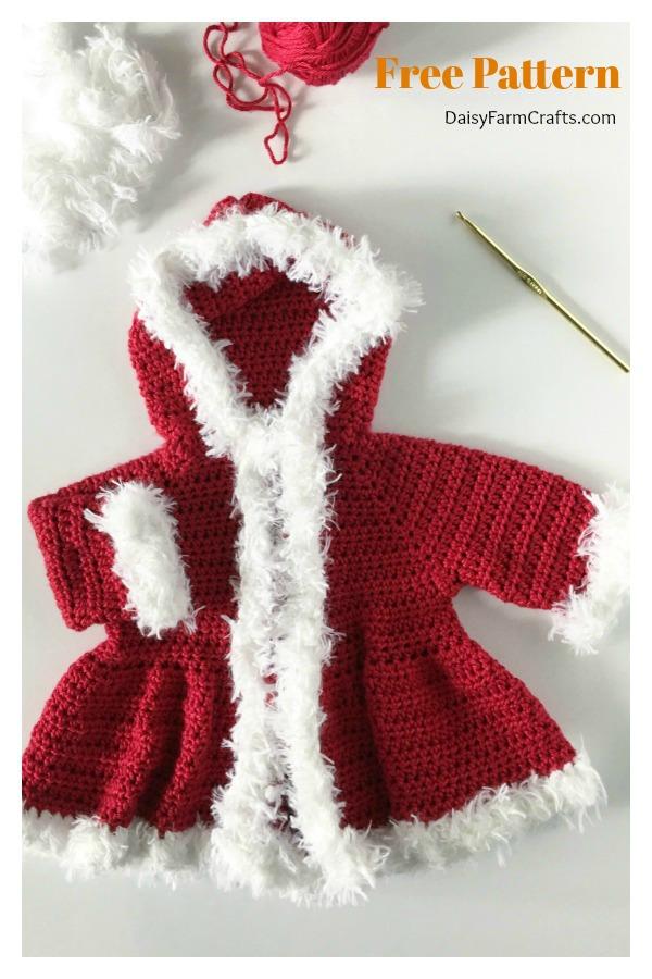 Christmas Baby Sweater Free Crochet Pattern