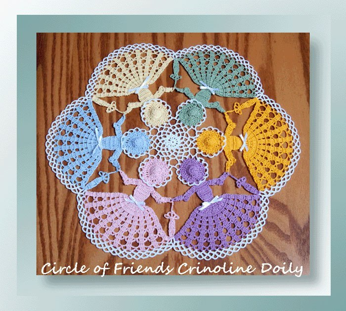 Circle of Friends Crinoline Doily Free Crochet Pattern