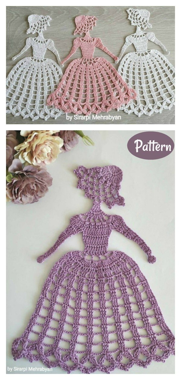 Crinoline Lady Doily Crochet Pattern