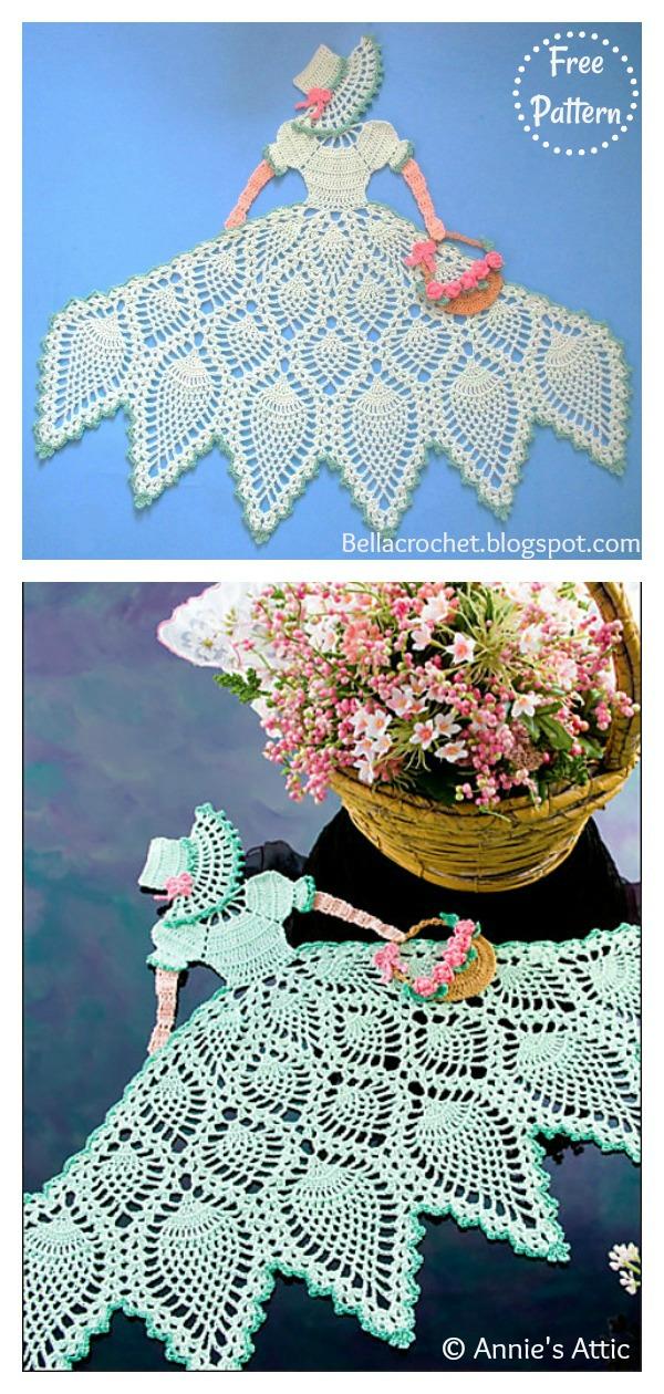 Crinoline Lady Doily Free Crochet Pattern