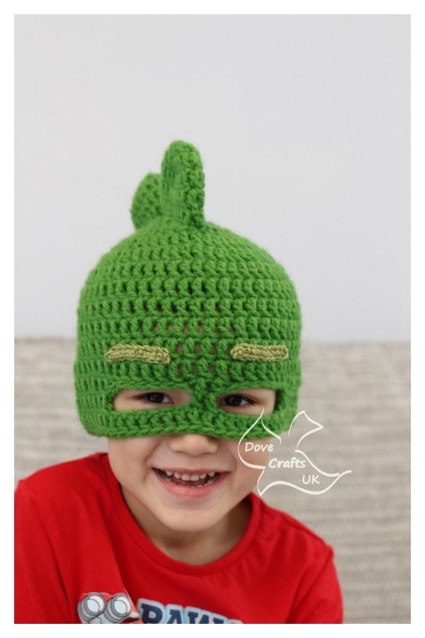 Gekko Mask Hat Free Crochet Pattern