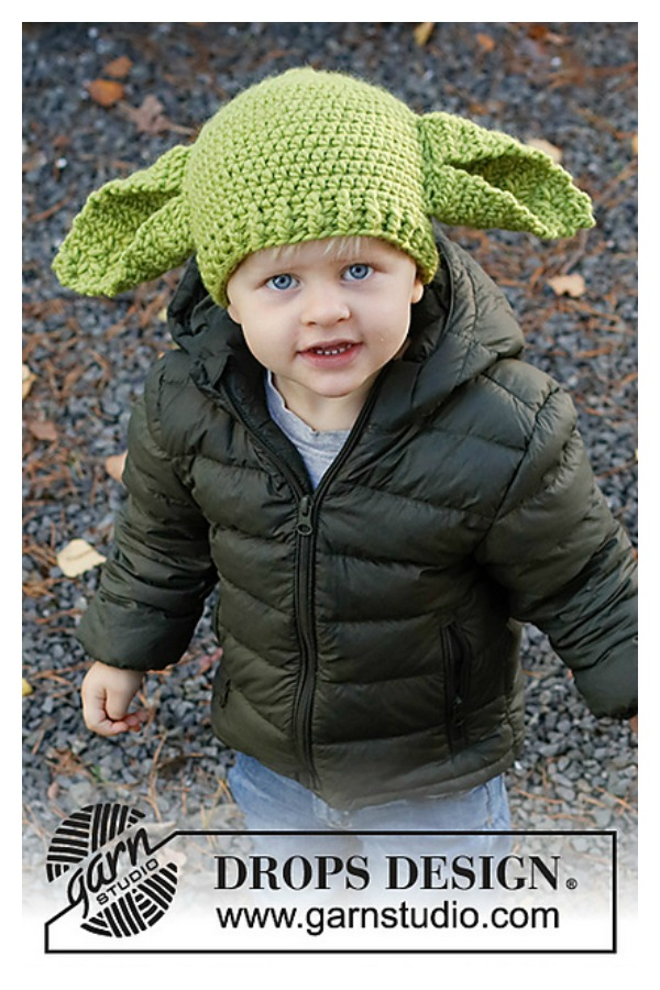 Green Ears Yoda Hat Free Crochet Pattern