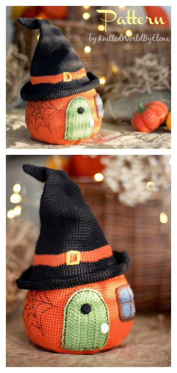 Halloween Amigurumi Pumpkin House Crochet Pattern