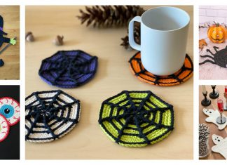 Halloween Coaster Free Crochet Pattern and Paid