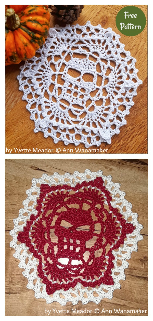 Halloween Coasters Free Crochet Pattern
