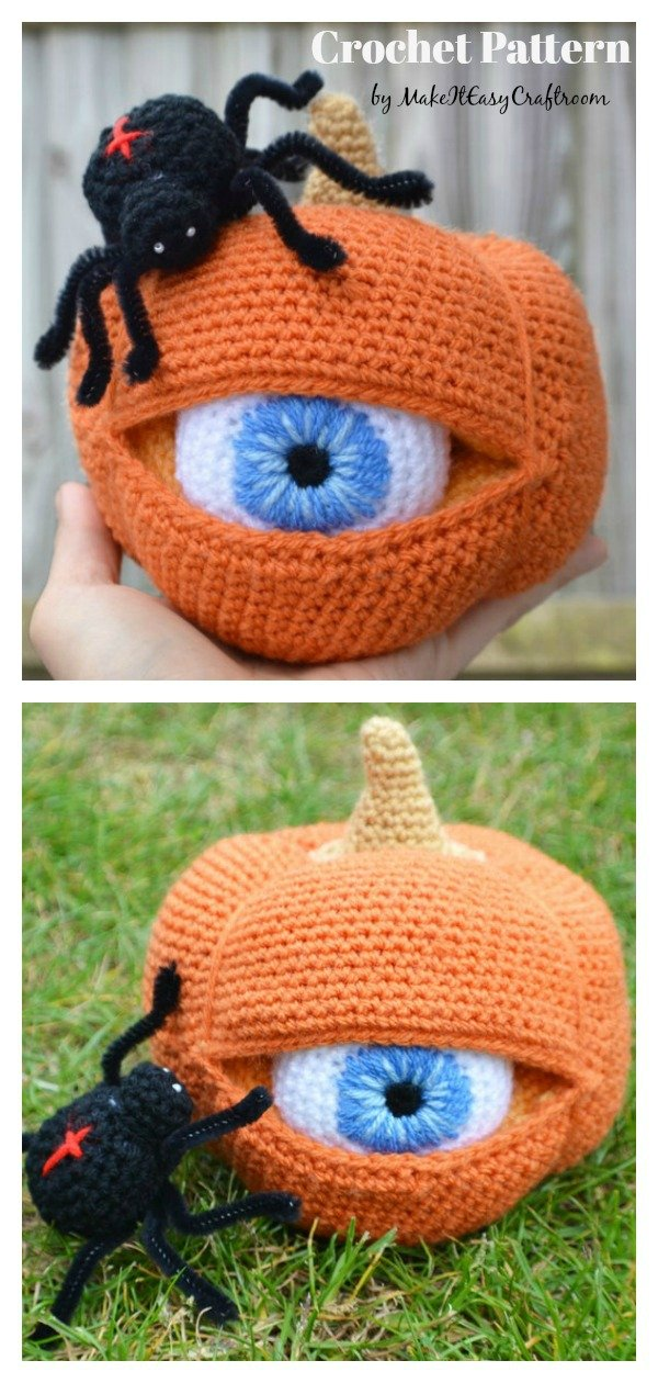 Halloween One Eyed Pumpkin Crochet Pattern