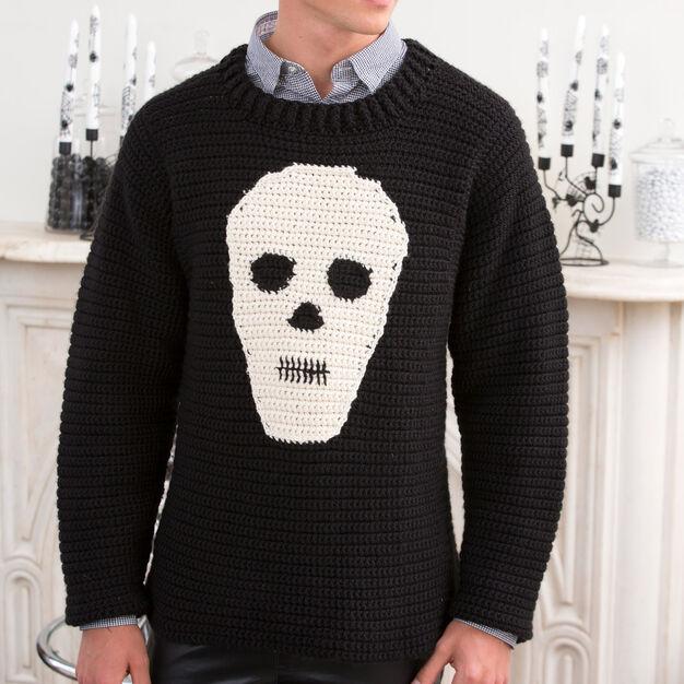 Halloween Skull Sweater Free Crochet Pattern