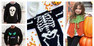 Halloween Sweater Free Crochet Pattern