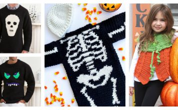 Halloween Sweater Free Crochet Pattern