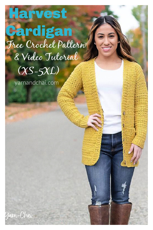 Harvest Cardigan Free Crochet Pattern and Video Tutorial