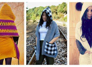 Hooded Pocket Shawl Crochet Patterns