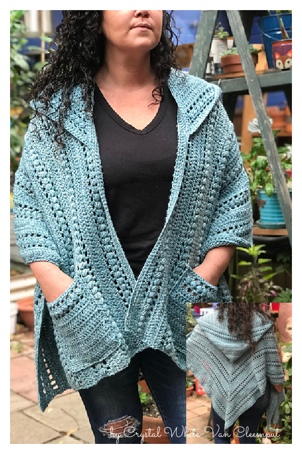 How to Crochet Juliette Hooded Pocket Shawl Video Tutorial