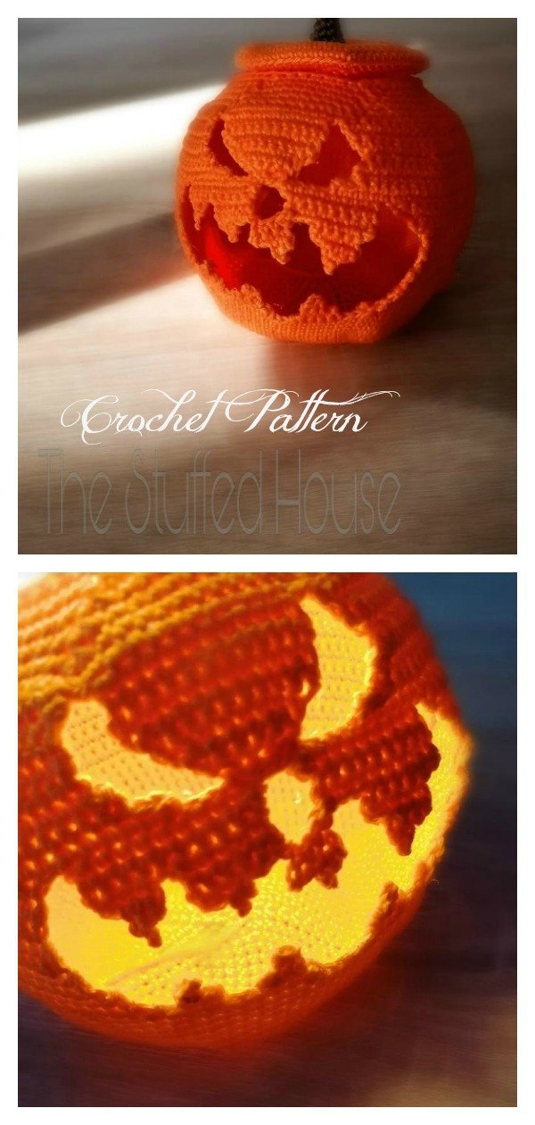 Jack-o'-Lantern Carving Pumpkin Crochet Pattern