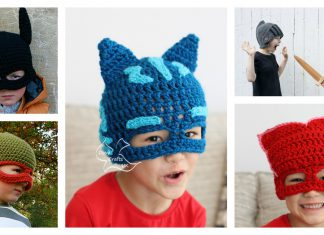 Kids Mask Hat Free Crochet Pattern and Paid