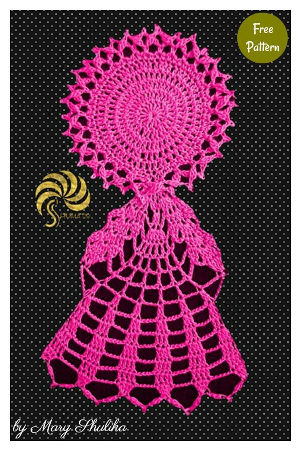 Lady Snowflake Doily Free Crochet Pattern