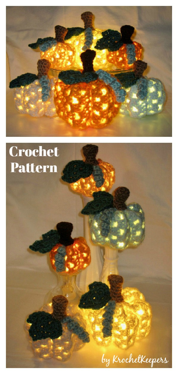 Lighted Granny Pumpkins Crochet Pattern