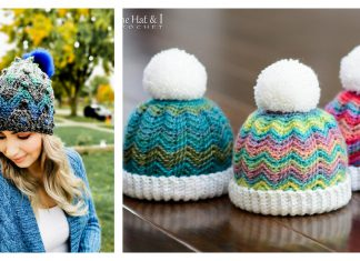 Lovely Chevron Hat Free Crochet Pattern and Paid
