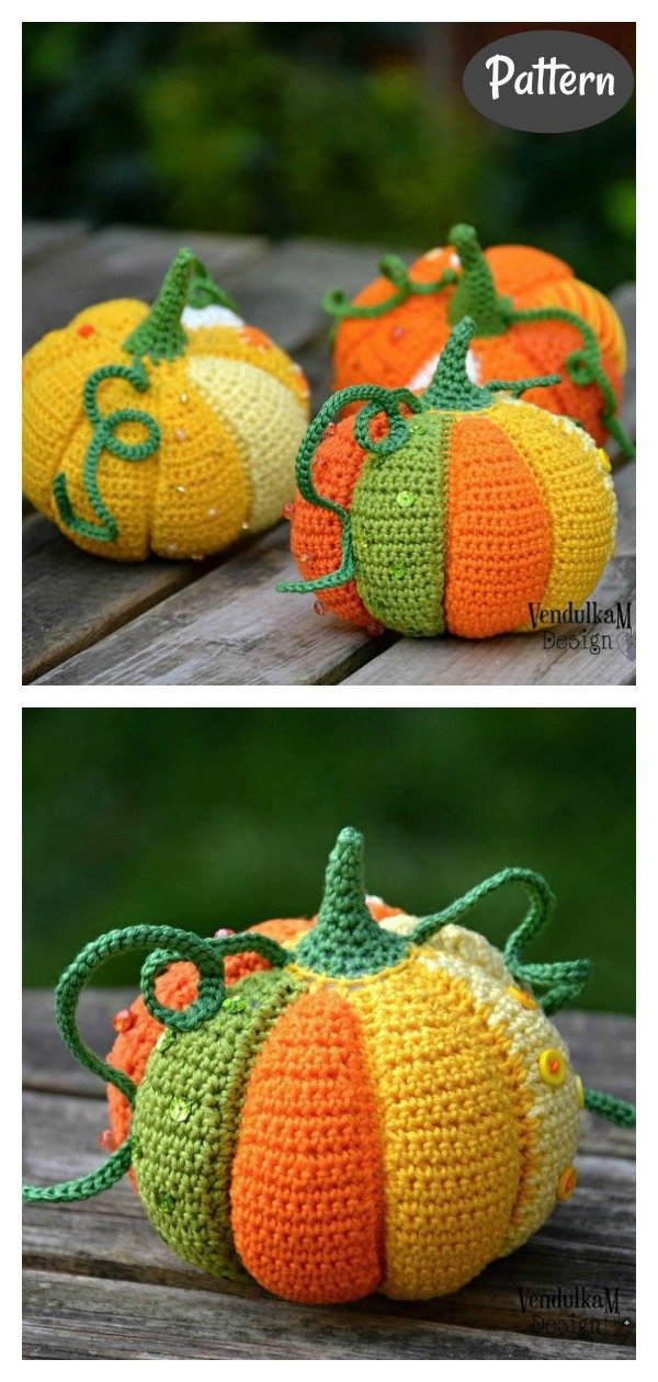 Patchwork Pumpkin Crochet Pattern