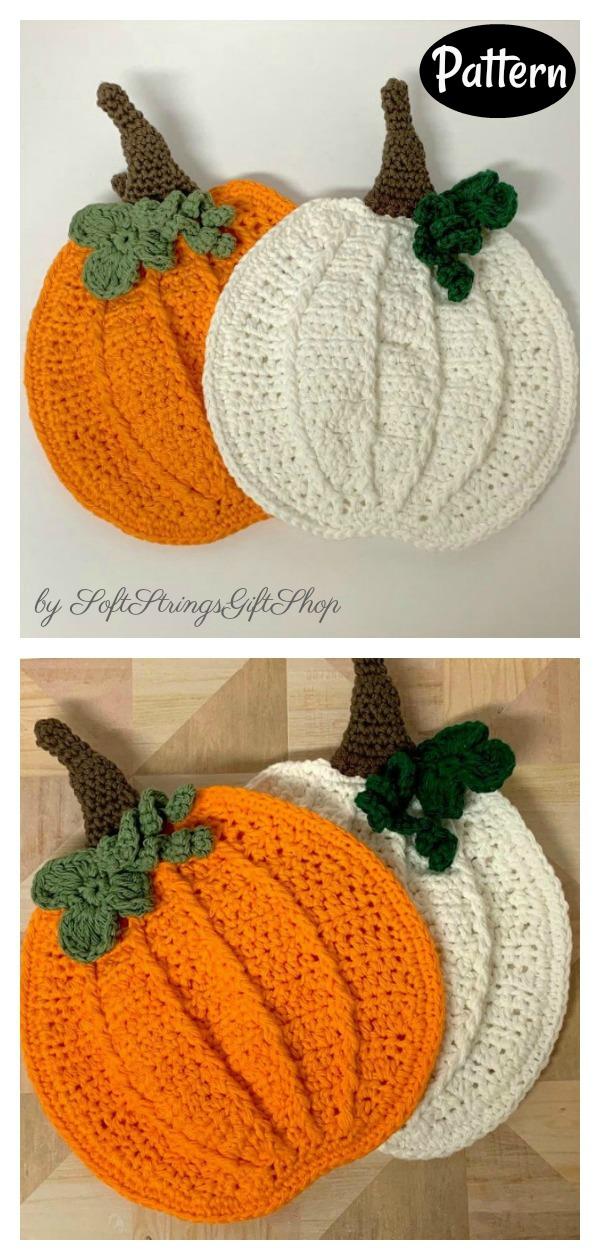 Plump Pumpkin Potholder Crochet Pattern