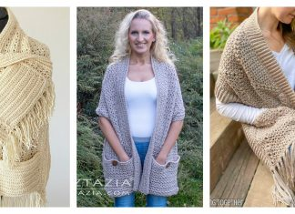Pocket Shawl Free Crochet Pattern