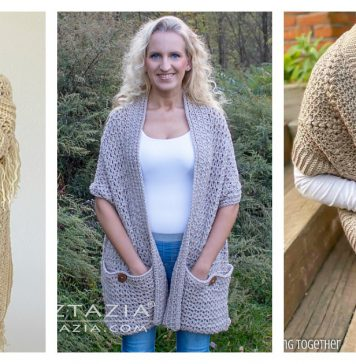 Pocket Shawl Free Crochet Pattern