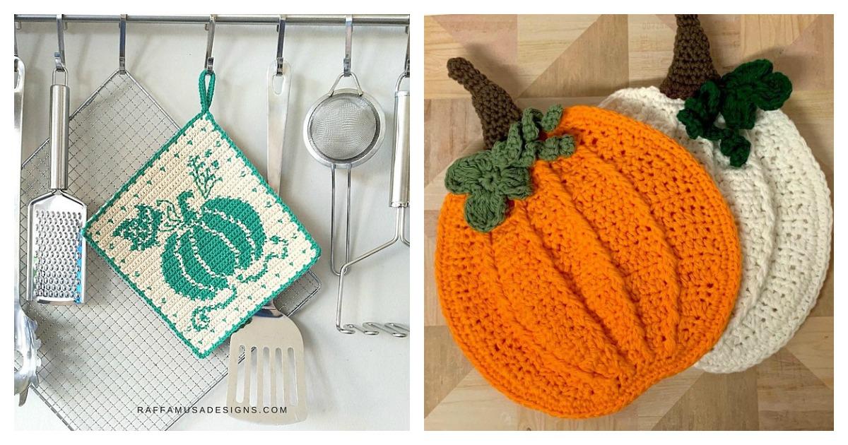 Pumpkin Potholder Crochet Patterns