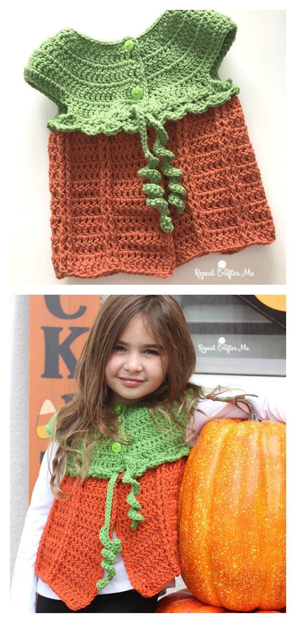 Pumpkin Sweater Vest Free Crochet Pattern