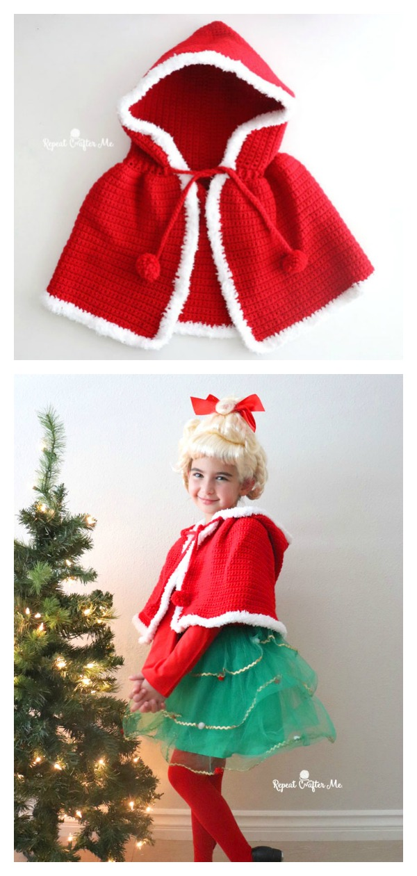 Red Cape and Costume Free Crochet Pattern