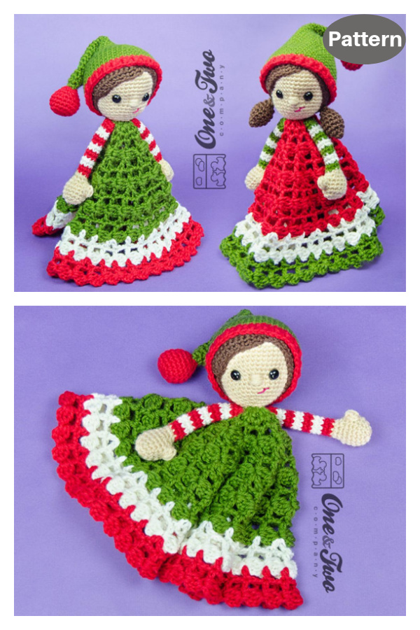 Santa's Helper Elf Lovey Crochet Pattern