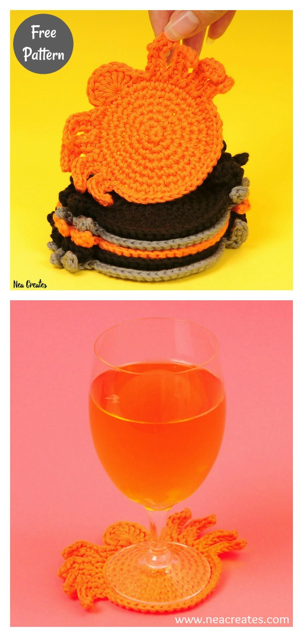 Spider Coaster Free Crochet Pattern